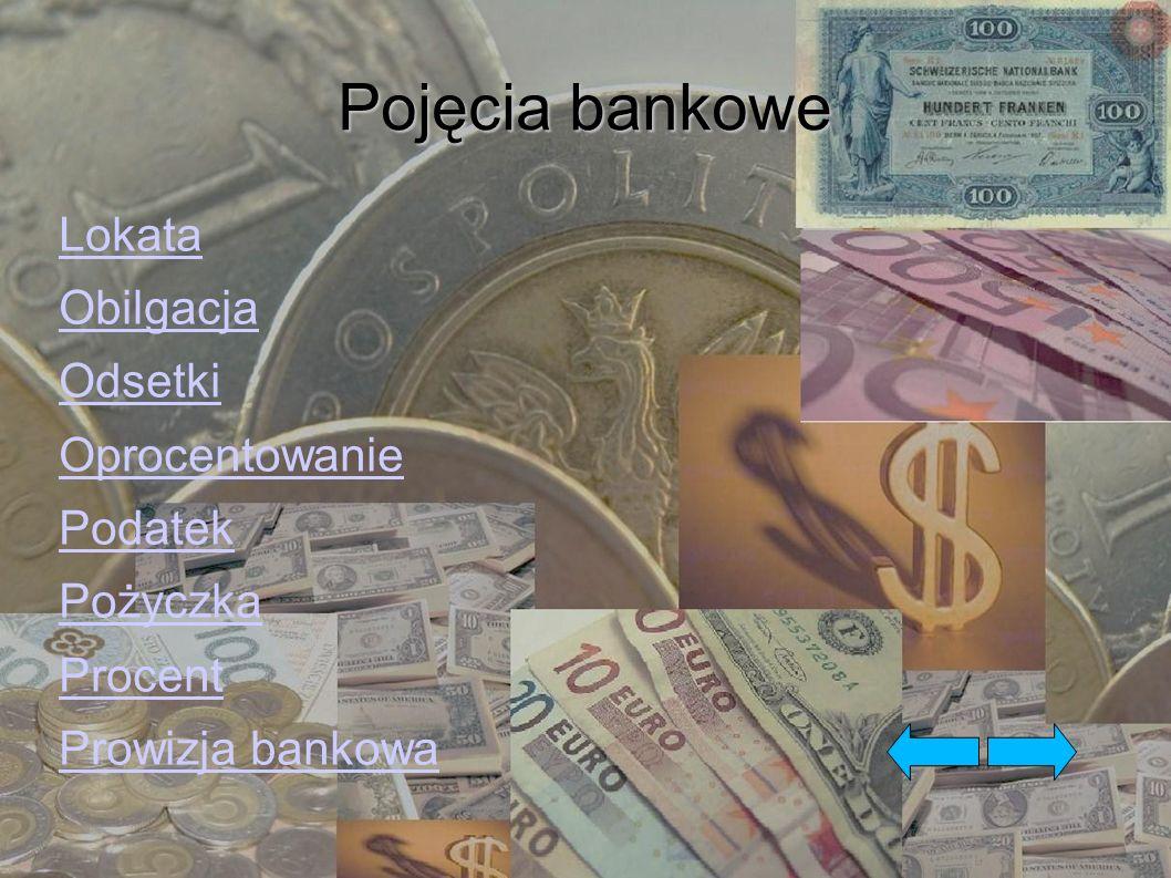 Pojęcia bankowe Przelew Rachunek oszczędniościowo – rozliczeniowy (ROR) Stopa procentowa