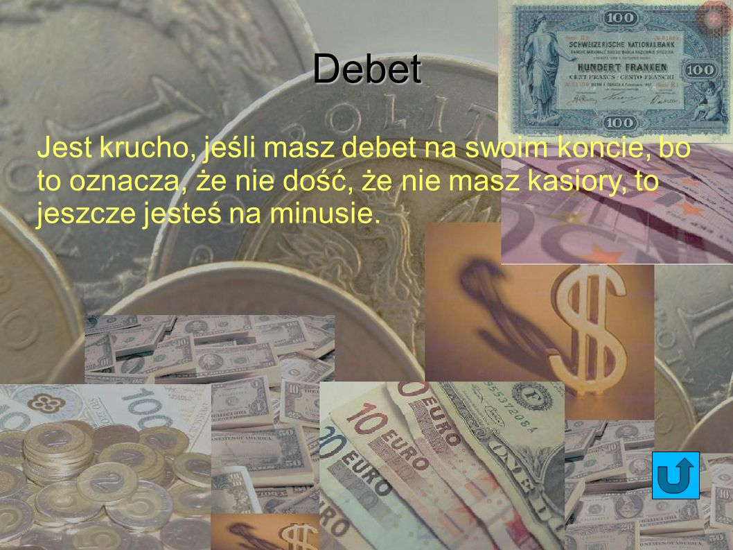 Depozyt Kasa, jaką zostawiasz w banku, która jest tam przechowywana.