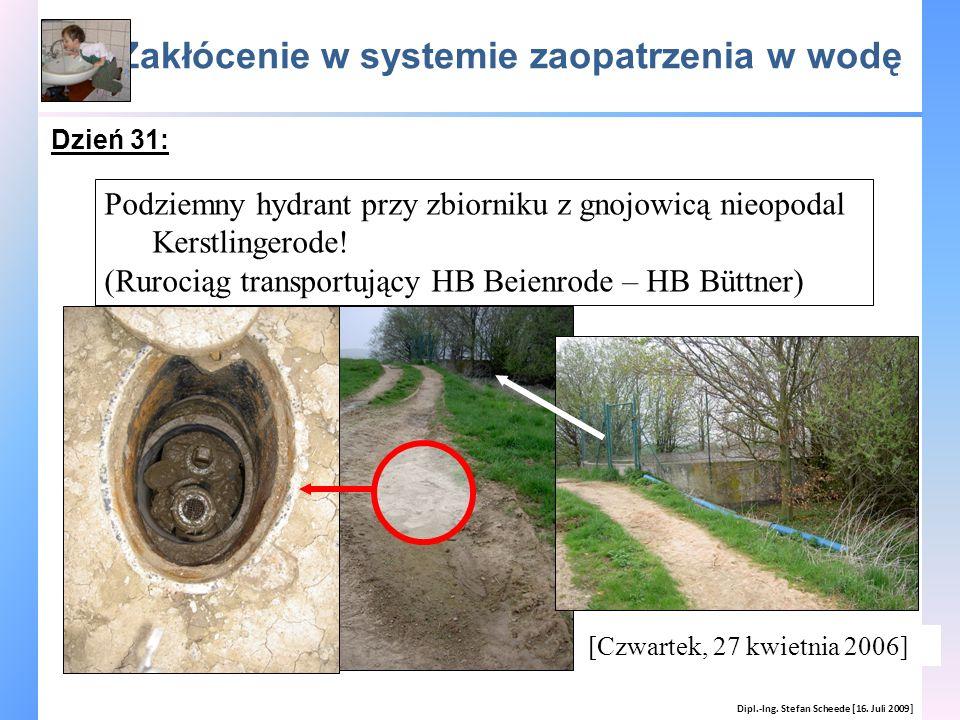Zakłócenie w systemie zaopatrzenia w wodę Dipl.-Ing. Stefan Scheede [16. Juli 2009] Podziemny hydrant przy zbiorniku z gnojowicą nieopodal Kerstlinger