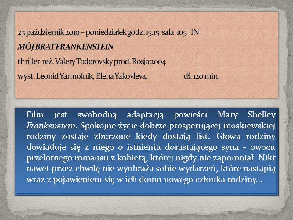 Film jest swobodną adaptacją powieści Mary Shelley Frankenstein. Spokojne życie dobrze prosperującej moskiewskiej rodziny zostaje zburzone kiedy dosta