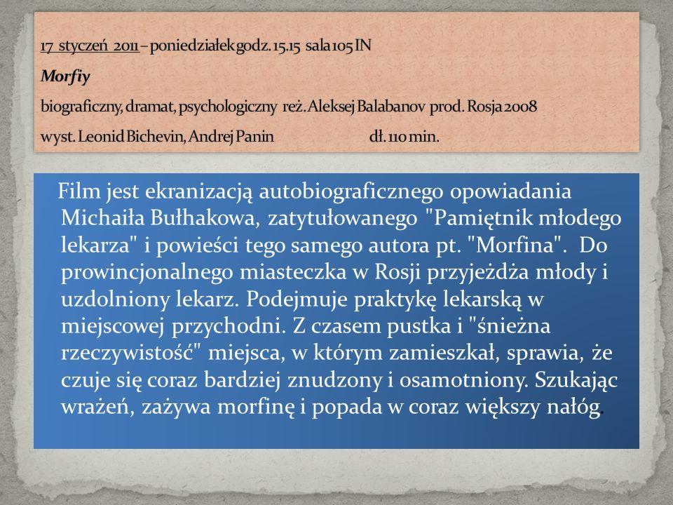 Film jest ekranizacją autobiograficznego opowiadania Michaiła Bułhakowa, zatytułowanego