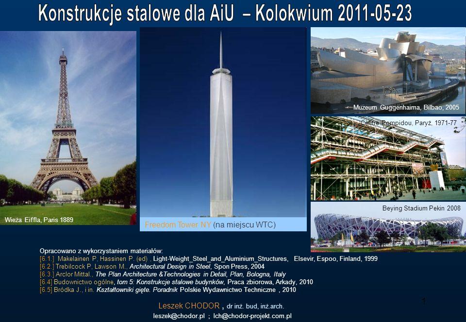 1 Leszek CHODOR, dr inż. bud, inż.arch. leszek@chodor.pl ; lch@chodor-projekt.com.pl Opracowano z wykorzystaniem materiałów: [6.1.] Makelainen P, Hass