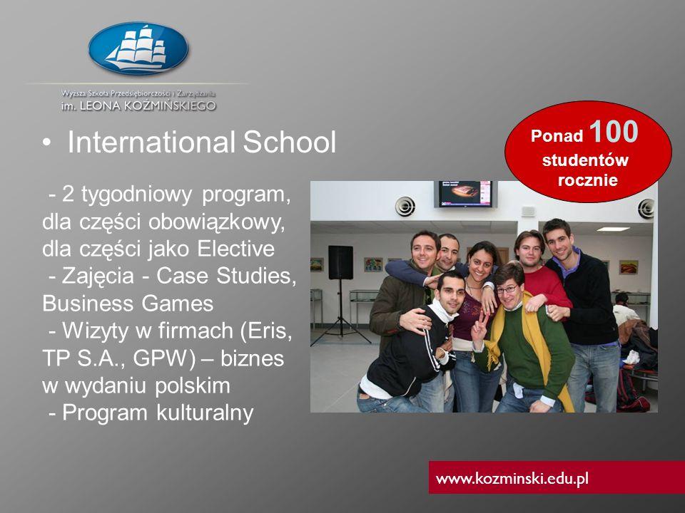 www.kozminski.edu.pl International School - 2 tygodniowy program, dla części obowiązkowy, dla części jako Elective - Zajęcia - Case Studies, Business