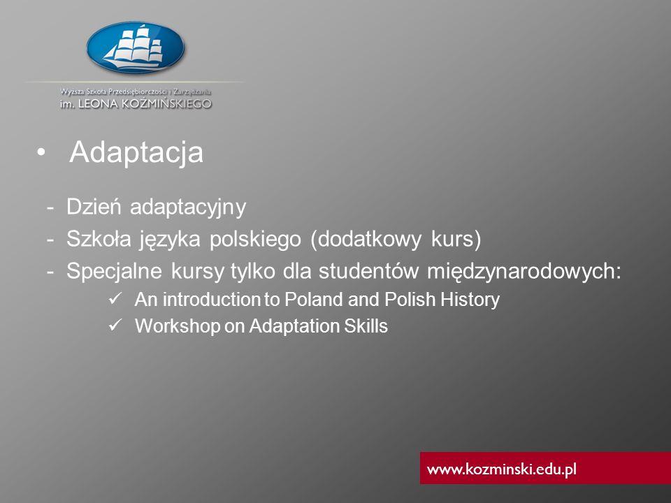www.kozminski.edu.pl - Dzień adaptacyjny - Szkoła języka polskiego (dodatkowy kurs) - Specjalne kursy tylko dla studentów międzynarodowych: An introdu