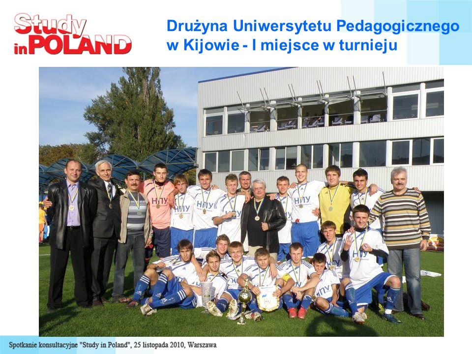 Drużyna Uniwersytetu Pedagogicznego w Kijowie - I miejsce w turnieju