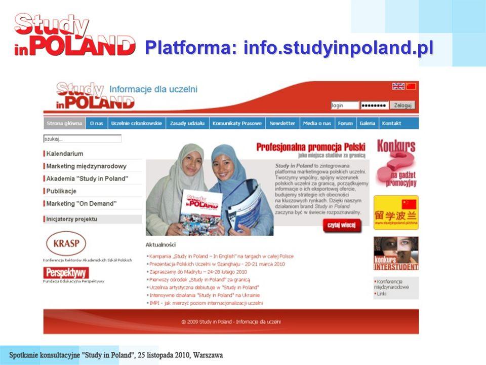 Platforma: info.studyinpoland.pl
