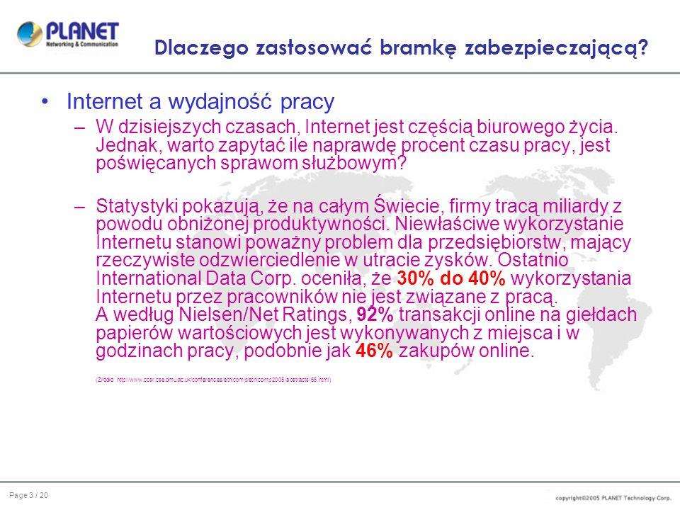 Page 14 / 20 Interfejs użytkownika Konfiguracja System / Interfejs IP: 1.