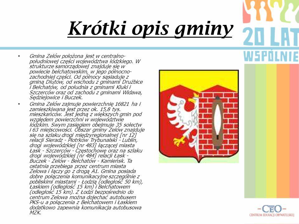 Krótki opis gminy Gmina Zelów położona jest w centralno- południowej części województwa łódzkiego. W strukturze samorządowej znajduje się w powiecie b