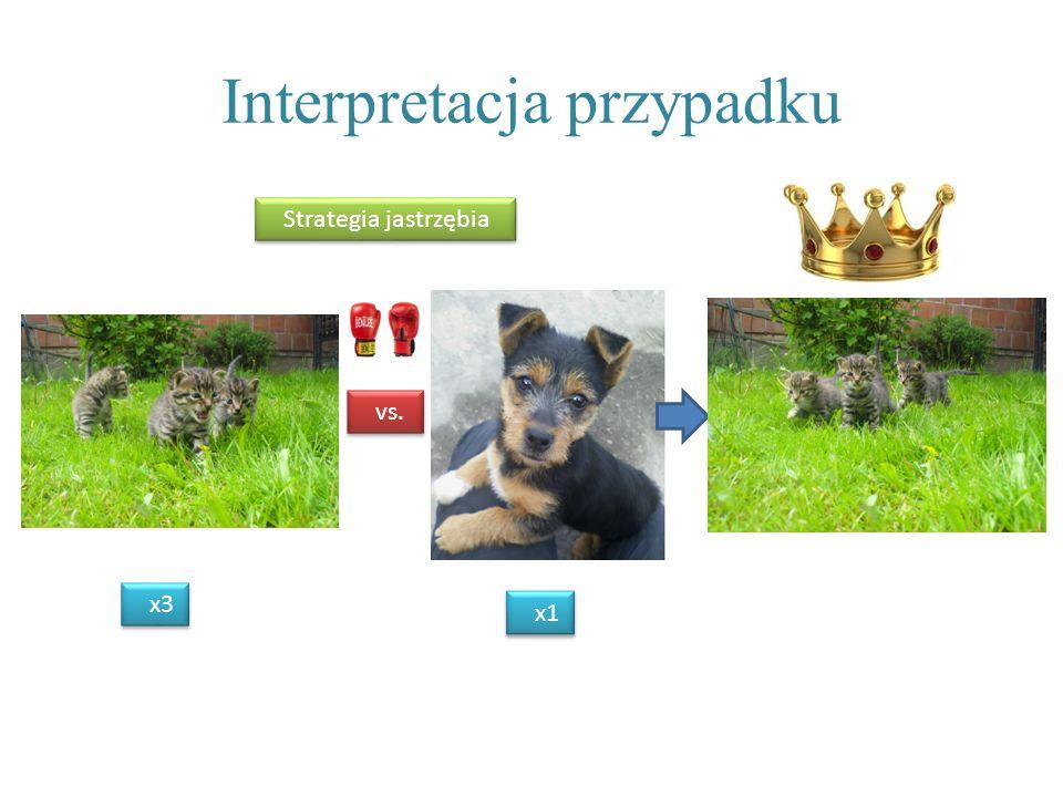 Interpretacja przypadku vs. x3 Strategia jastrzębia x1