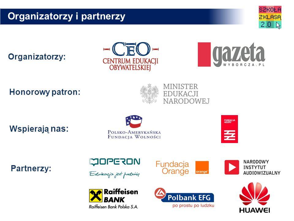 Organizatorzy: Honorowy patron: Wspierają nas: Partnerzy: Organizatorzy i partnerzy