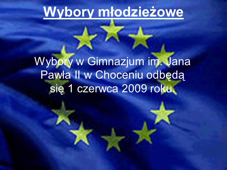 Wybory młodzieżowe Wybory w Gimnazjum im. Jana Pawła II w Choceniu odbędą się 1 czerwca 2009 roku.