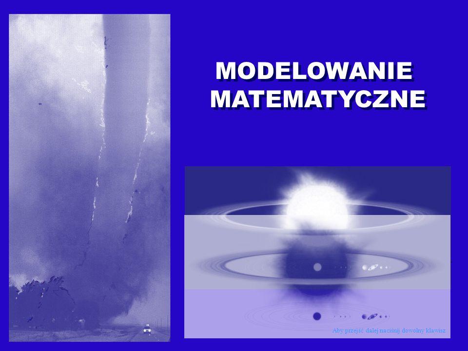 MODELOWANIE MATEMATYCZNE Wstępem do studiów na tej specjalności jest zapoznanie się z podstawowymi działami matematyki i informatyki.