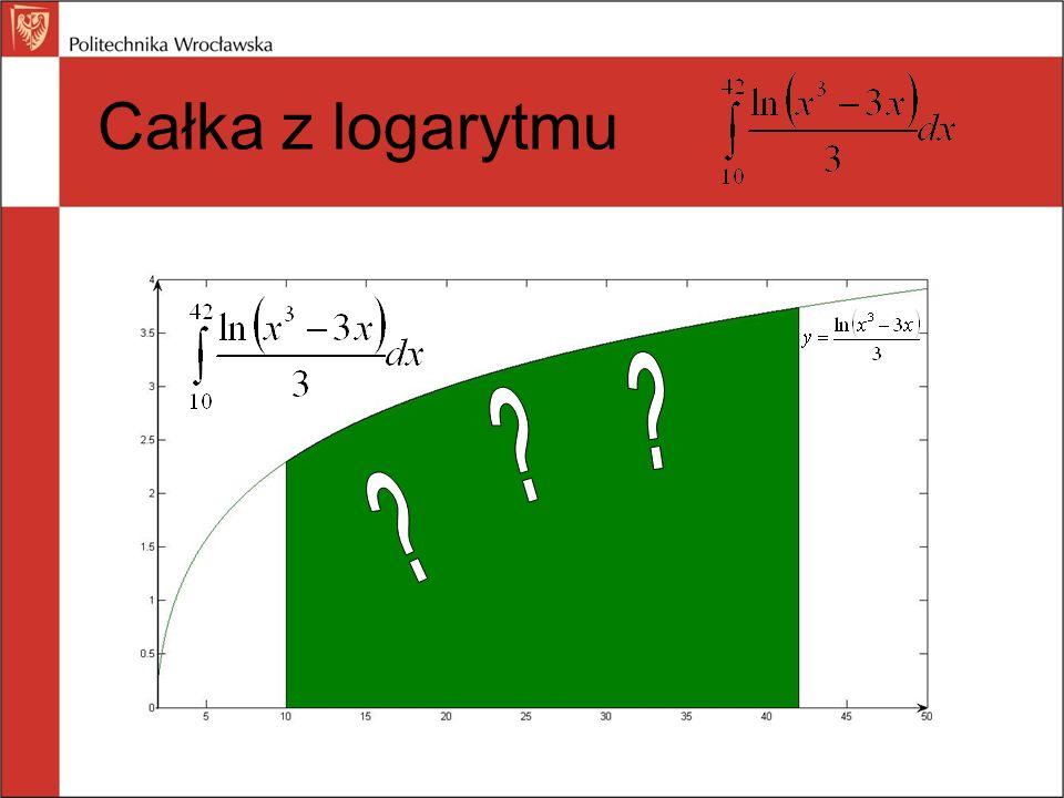 Całka z logarytmu