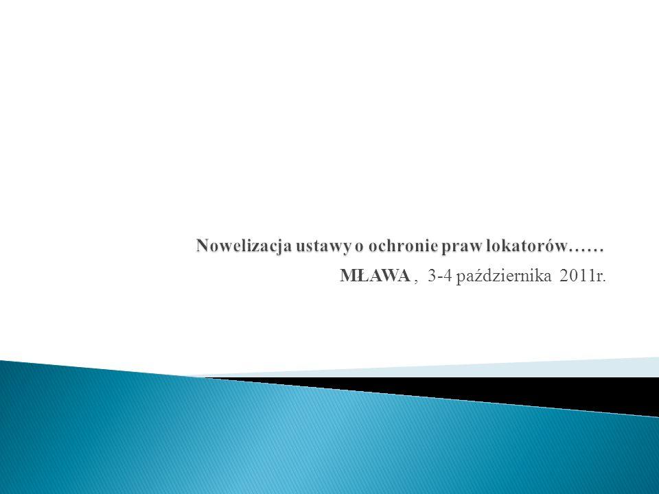 MŁAWA, 3-4 października 2011r.