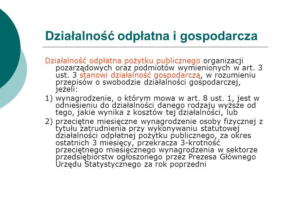Działalność odpłatna i gospodarcza Działalność odpłatna pożytku publicznego organizacji pozarządowych oraz podmiotów wymienionych w art. 3 ust. 3 stan
