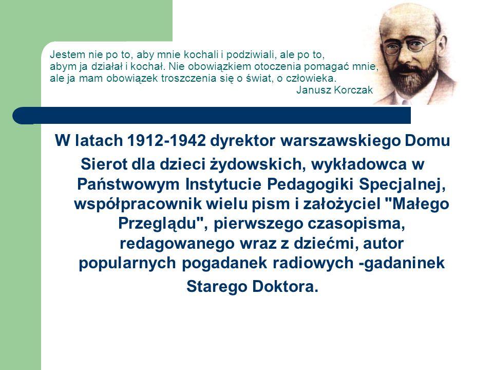 W latach 1912-1942 dyrektor warszawskiego Domu Sierot dla dzieci żydowskich, wykładowca w Państwowym Instytucie Pedagogiki Specjalnej, współpracownik