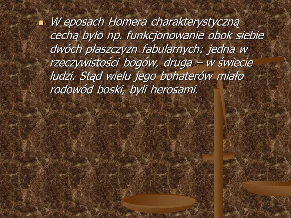 przed naszą erą – Iliada - VIII w.; Eneida - I w.