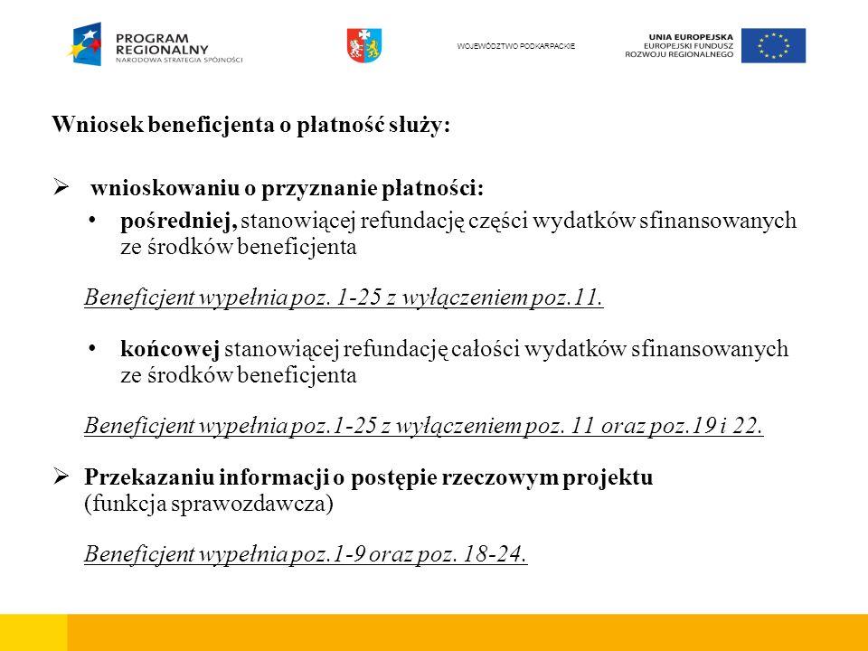 Faktury/dokumenty księgowe o równoważnej wartości dowodowej – obowiązkowe elementy opisu Pierwsza strona Projekt współfinansowany ze środków Unii Europejskiej z Europejskiego Funduszu Rozwoju Regionalnego w ramach Regionalnego Programu Operacyjnego Województwa Podkarpackiego na lata 2007 – 2013, a w przypadku projektów współfinansowanych dodatkowo z budżetu Państwa lub budżetu Samorządu Województwa Podkarpackiego, do powyższego opisu należy odpowiednio dodać: oraz z budżetu Państwa , lub oraz z budżetu Samorządu Województwa Podkarpackiego Ujęto we wniosku o płatność za okres od … do … WOJEWÓDZTWO PODKARPACKIE