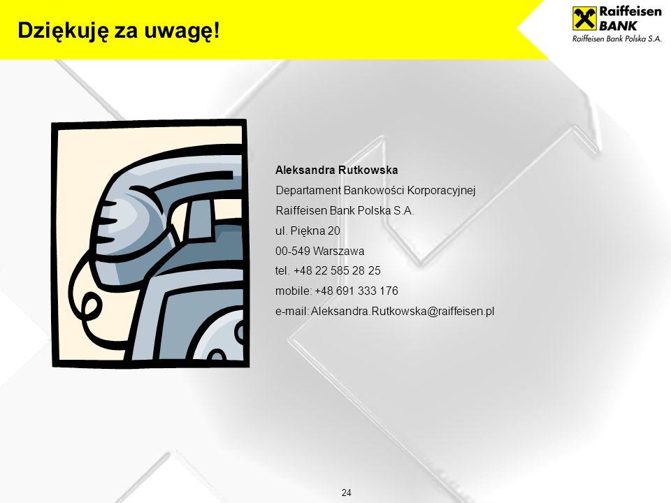 23 PRZYDATNE ADRESY INTERNETOWE: www.raiffeisen.pl www.bgk.com.pl www.mrr.gov.pl www.mg.gov.pl www.funduszeeuropejskie.gov.pl www.poig.gov.pl Przydatn