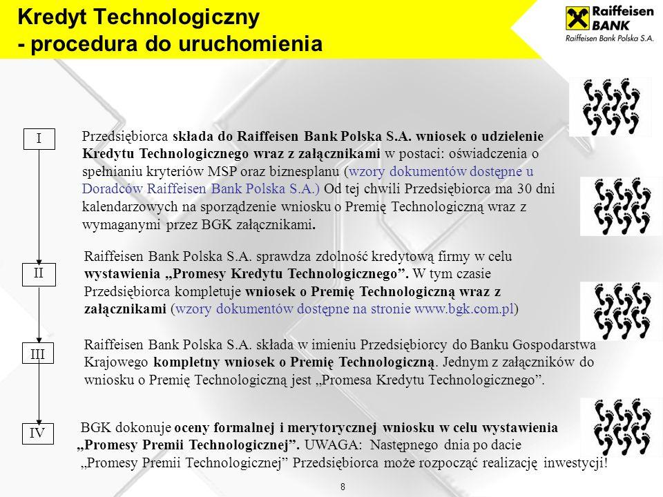 8 Przedsiębiorca składa do Raiffeisen Bank Polska S.A.