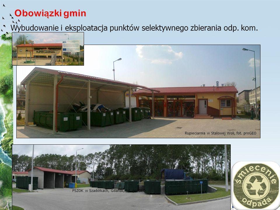 15 Rupieciarnia w Stalowej Woli, fot. proGEO Wybudowanie i eksploatacja punktów selektywnego zbierania odp. kom. PSZOK w Szadółkach, Gdańsk, fot. proG