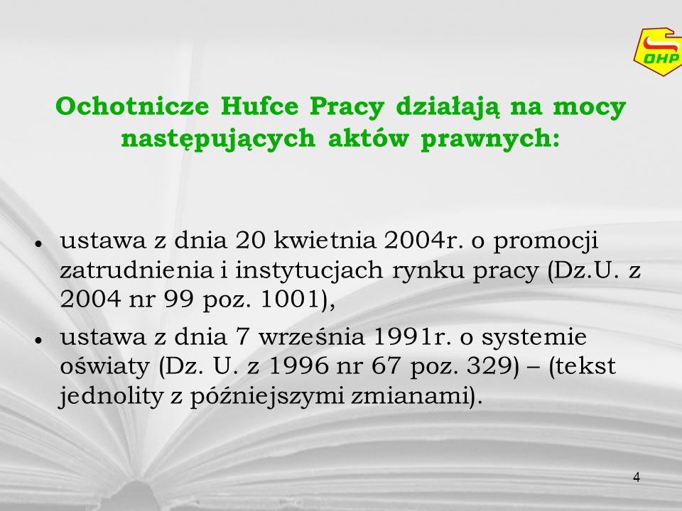4 ustawa z dnia 20 kwietnia 2004r. o promocji zatrudnienia i instytucjach rynku pracy (Dz.U. z 2004 nr 99 poz. 1001), ustawa z dnia 7 września 1991r.