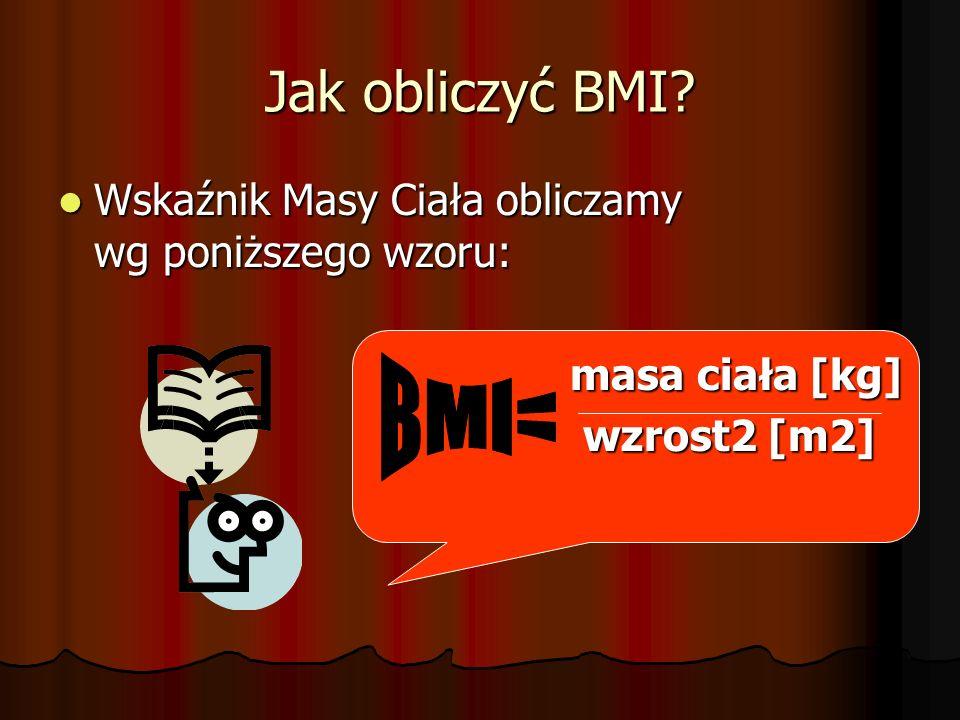 Jak odczytać wskaźnik BMI .