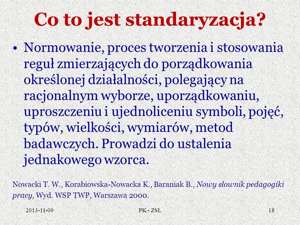 Co to jest standaryzacja? Normowanie, proces tworzenia i stosowania reguł zmierzających do porządkowania określonej działalności, polegający na racjon