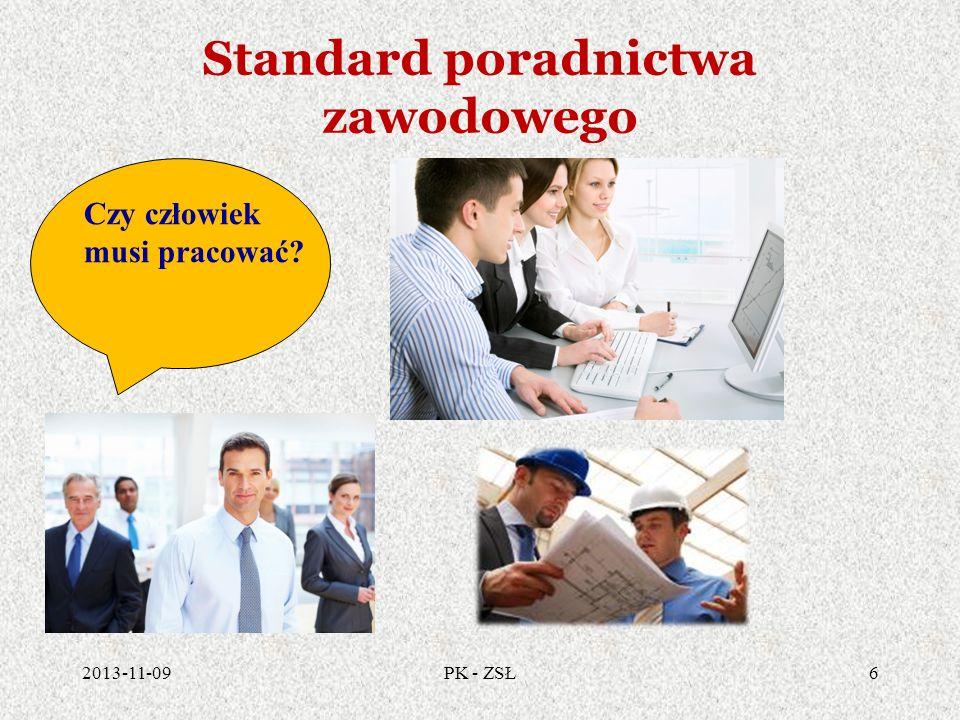Standard poradnictwa zawodowego 2013-11-096PK - ZSŁ Czy człowiek musi pracować?
