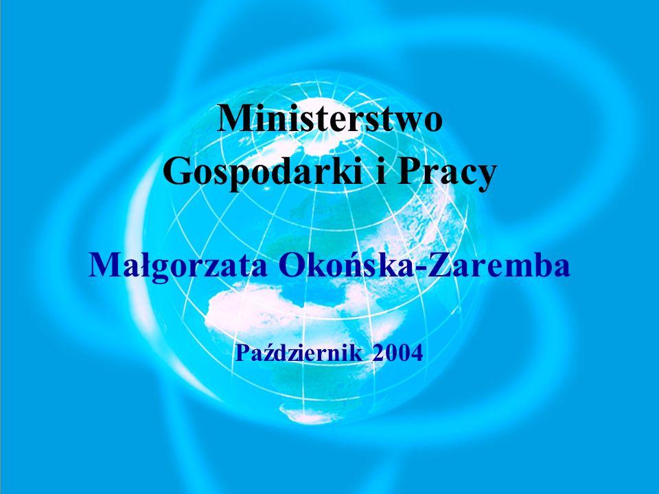 Ministerstwo Gospodarki i Pracy Małgorzata Okońska-Zaremba Październik 2004