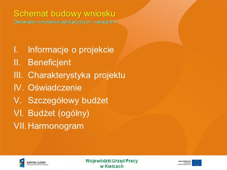 Informacje o projekcie Wojewódzki Urząd Pracy w Kielcach WYPEŁNIENIE OKRESU REALIZACJI PROJEKTU JEST WARUNKIEM NIEZBĘDNYM DO DALSZEJ EDYCJI WNIOSKU.