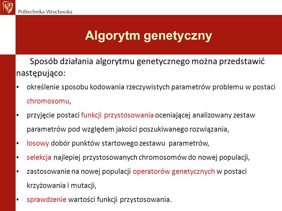 Algorytm genetyczny Zalety działania operatorów krzyżowania i mutacji.