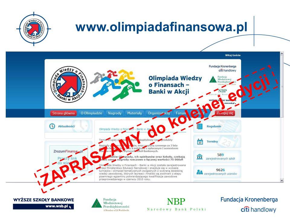 www.olimpiadafinansowa.pl ZAPRASZAMY do kolejnej edycji