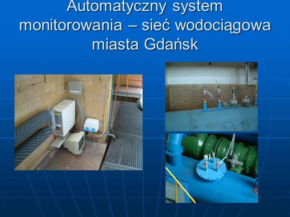 Automatyczny system monitorowania – sieć wodociągowa miasta Gdańsk