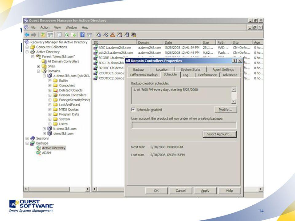14 Wybór właściwego narzędzia: Recovery Manager for Active Directory.