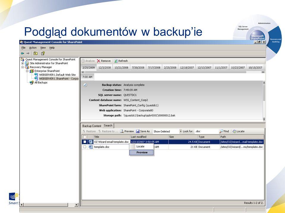 38 Podgląd dokumentów w backupie