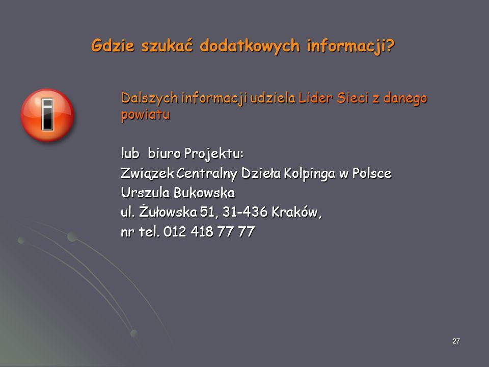27 Gdzie szukać dodatkowych informacji.