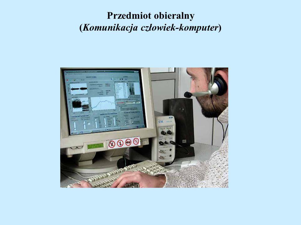 Przedmiot obieralny (Komunikacja człowiek-komputer)