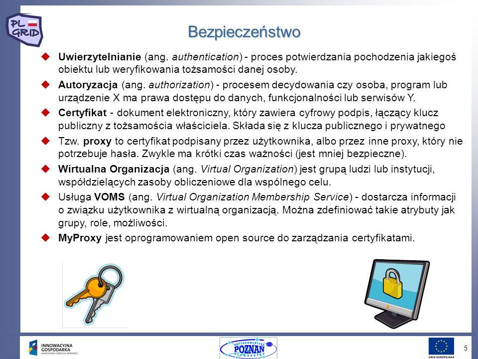 6 Workload Management System (WMS) Workload Management System (WMS) Workload Manager (WM) Workload Manager (WM) Network Server (NS) Network Server (NS) Resource Broker (RB) Resource Broker (RB) Computing Element (CE) Computing Element (CE) Worker Node (WN) Worker Node (WN) Logging and Bookkeeping (LB) Logging and Bookkeeping (LB) Job Description Language (JDL) Job Description Language (JDL) Zarządzanie zadaniami (1)