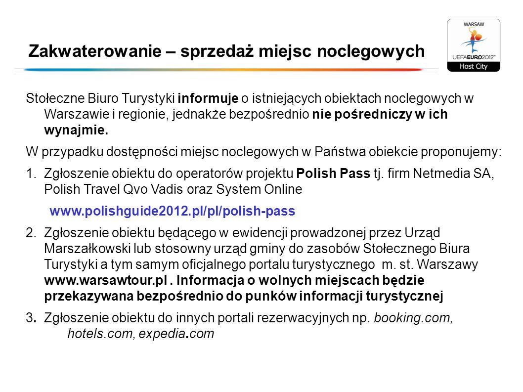 Zakwaterowanie – sprzedaż miejsc noclegowych Stołeczne Biuro Turystyki informuje o istniejących obiektach noclegowych w Warszawie i regionie, jednakże