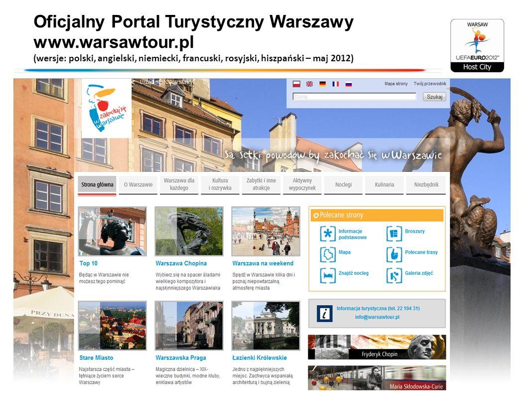 Oficjalny Portal Turystyczny Warszawy www.warsawtour.pl (wersje: polski, angielski, niemiecki, francuski, rosyjski, hiszpański – maj 2012)