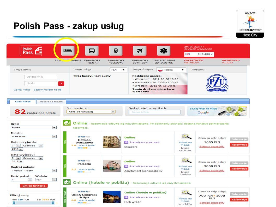 Polish Pass - zakup usług