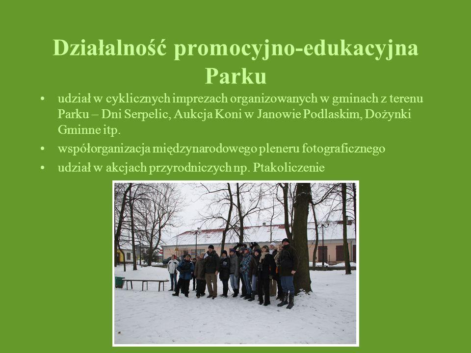 Działalność promocyjno-edukacyjna Parku udział w cyklicznych imprezach organizowanych w gminach z terenu Parku – Dni Serpelic, Aukcja Koni w Janowie P
