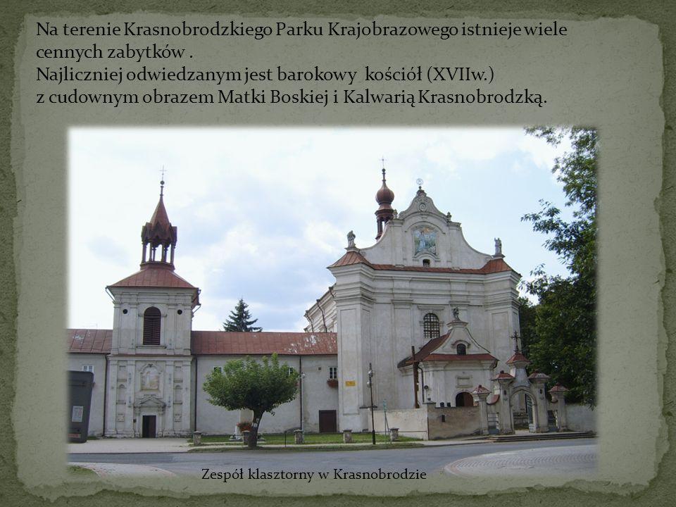Na terenie Krasnobrodzkiego Parku Krajobrazowego istnieje wiele cennych zabytków. Najliczniej odwiedzanym jest barokowy kościół (XVIIw.) z cudownym ob