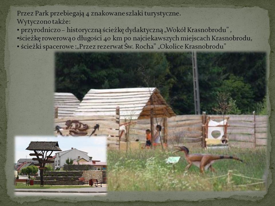 Przez Park przebiegają 4 znakowane szlaki turystyczne. Wytyczono także: przyrodniczo – historyczną ścieżkę dydaktyczną Wokół Krasnobrodu, ścieżkę rowe