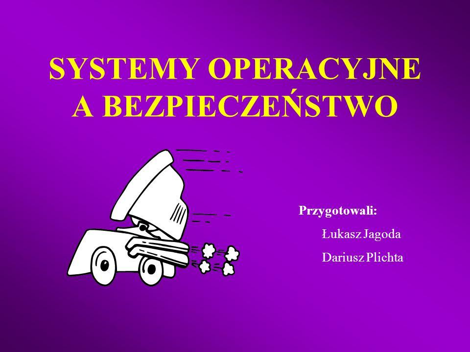 SYSTEMY OPERACYJNE A BEZPIECZEŃSTWO Przygotowali: Łukasz Jagoda Dariusz Plichta