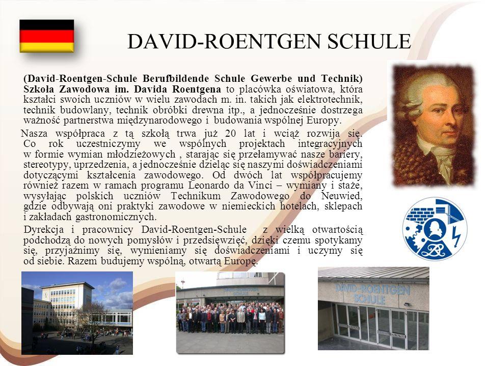 DAVID-ROENTGEN SCHULE (David-Roentgen-Schule Berufbildende Schule Gewerbe und Technik) Szkoła Zawodowa im. Davida Roentgena to placówka oświatowa, któ
