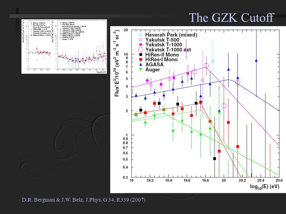 D.R. Bergman & J.W. Belz, J.Phys. G 34, R339 (2007) The GZK Cutoff