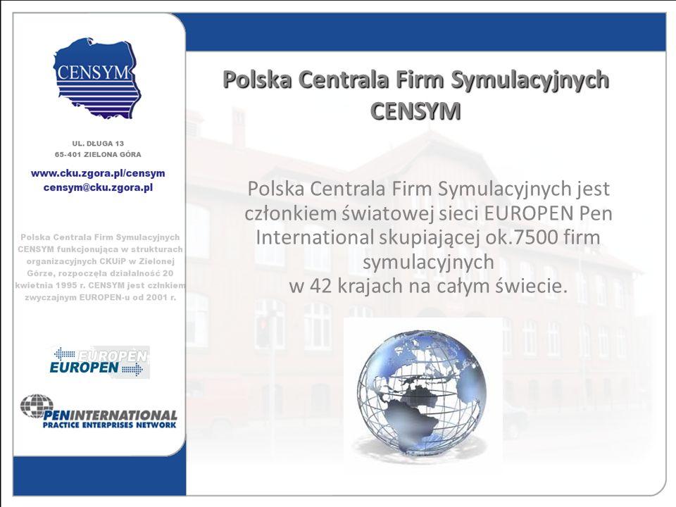Polska Centrala Firm Symulacyjnych jest członkiem światowej sieci EUROPEN Pen International skupiającej ok.7500 firm symulacyjnych w 42 krajach na cał