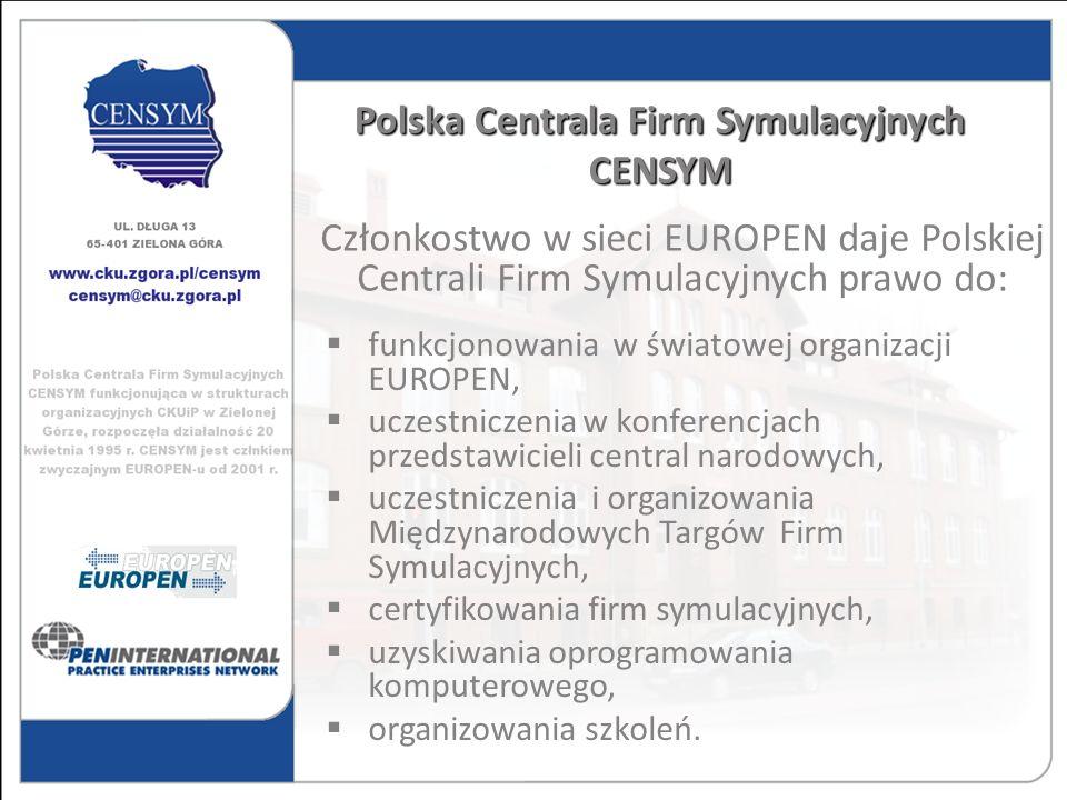 funkcjonowania w światowej organizacji EUROPEN, uczestniczenia w konferencjach przedstawicieli central narodowych, uczestniczenia i organizowania Międ